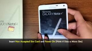 getlinkyoutube.com-Unlock Samsung Galaxy Note 4 (Updated instructions / guide) - SM-N910, SM-N910T, SM-N910A