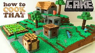 getlinkyoutube.com-MINECRAFT CAKE VILLAGE How To Cook That Ann Reardon