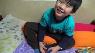 getlinkyoutube.com-sy 닌자고 오토바이 사이클 레고 짝퉁 장난감을 조립하며 노는 아이