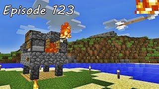 getlinkyoutube.com-Minecraft เอาชีวิตรอด - Episode 123 - สร้างเครื่องยิงธนูไฟ