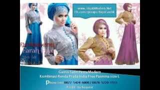 getlinkyoutube.com-Gamis Satin Pesta #Gamis Pesta Terbaru HijabModern.Net