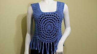 getlinkyoutube.com-Blusa con Flecos Crochet