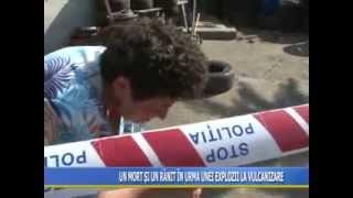 getlinkyoutube.com-Imagini socante! A murit in vulcanizare in urma exploziei unui cauciuc