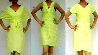 getlinkyoutube.com-DIY  Como fazer Vestido Multiuso Sem Costura