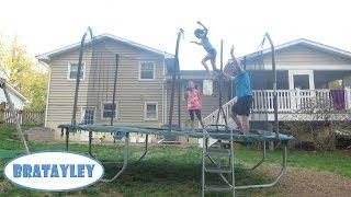 getlinkyoutube.com-Extreme Trampoline Stunts (WK 173.4) | Bratayley