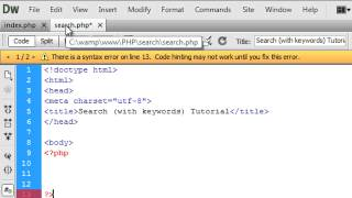 getlinkyoutube.com-PHP: Search Feature (Using Keywords)