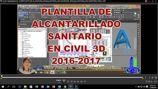 getlinkyoutube.com-PLANTILLA  PARA ALCANTARILLADO SANITARIO Y ABASTECIMIENTO DE AGUA EN CIVIL 3D 2016 - 2017
