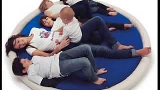 Blandito tappeto poltrona pouff bebe neonato famiglia coppia