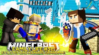 getlinkyoutube.com-FAMILY LIFE #31- EVIL STEP DAD KIDNAPS GRANDMA!! Little Donny Minecraft Custom Roleplay.