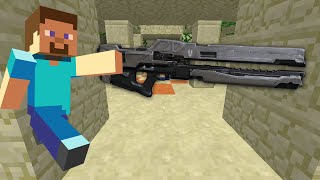 getlinkyoutube.com-Minecraft RAIL GUN CANNONS