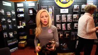 getlinkyoutube.com-stun gun walking stick by PS Products :Shot Show 2015