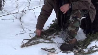 getlinkyoutube.com-Easy Survival Snowshoes