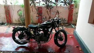 getlinkyoutube.com-Royal Enfield Bobber kick start & Desert Storm 500