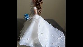 DIY-♥ Lú Passo a Passo Vestido de Noiva em Biscuit e Tecido_Parte 1/4-Lucilia Dantas