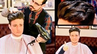 getlinkyoutube.com-Mens Undercut Quiff Medium Length - Haircut & Style