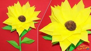 getlinkyoutube.com-How to make a Tissue Paper Sunflower? DIY