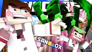 getlinkyoutube.com-초초초거대 식인식물을 만난 도티, 쵸우, 코아 연구원!! [샌드박스 연구소: 마인크래프트 상황극] Minecraft - Role Play - [도티]