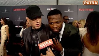 getlinkyoutube.com-Our Eminem Interview Gets Crashed by 50 Cent: 'Who Is This Guy?'