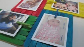 getlinkyoutube.com-DIY : #42 Colorful Frame From Ice Cream Sticks ♥