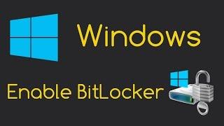 getlinkyoutube.com-Enable BitLocker Drive Encryption (Windows 8/8.1/10 Setup)