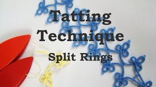 getlinkyoutube.com-Tatting Technique: Split Rings