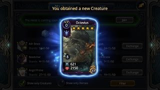 Deck Heroes: Ultima Chest Opening (5*Creature + Octavius Unlocked)