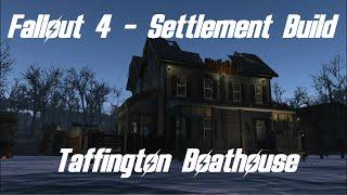 "getlinkyoutube.com-Fallout 4 - Settlement Build ""Taffington Boathouse"" w/ Precise Moving and Rotating"