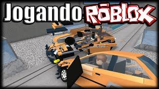 getlinkyoutube.com-Jogando Roblox - Car Crushers do Caos!