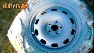 getlinkyoutube.com-DIY: Refinishing Steel Wheels