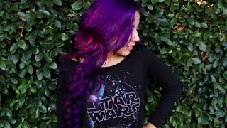 getlinkyoutube.com-Purple Wild Orchid Hair Transformation with Charisma Star