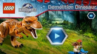 getlinkyoutube.com-Lego Jurassic World: Demolition Dinosaur - Rampaging Dinosaur On The Loose (Gameplay)