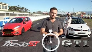 getlinkyoutube.com-Track Race: New VW Polo GTI vs Ford Fiesta ST