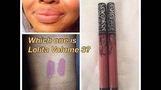 getlinkyoutube.com-💚💄 Kat Von D Lolita Version 3 Vs. Version 2 Comparison Lip Swatch