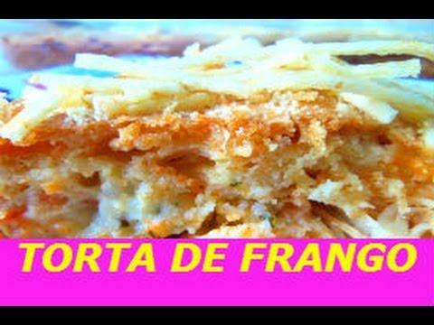 RECEITA DE TORTA DE FRANGO COM REQUEIJÃO E  FÁCIL DE FAZER