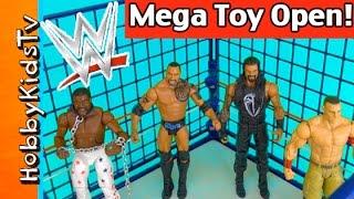 getlinkyoutube.com-WWE Mega Toy SHAKE DOWN! Steel Cage Match Royal Rumble Open Review HobbyKidsTV