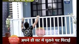 getlinkyoutube.com-Pragya beats Abhi badly; mistakes him for thief