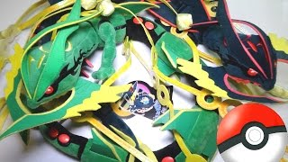 getlinkyoutube.com-MEGA RAYQUAZA Plushies, green and SHINY Pokémon Center stuffed animals!