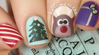 getlinkyoutube.com-4 CHRISTMAS NAIL ART DESIGNS! (EASY)    KELLI MARISSA