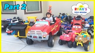 getlinkyoutube.com-HUGE POWER WHEELS COLLECTIONS Ride On Cars for Kids Compilations Part 2 Disney Cars Paw Patrol