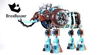 getlinkyoutube.com-Lego Chima 70145 Maula's Ice Mammoth Stomper - Lego Speed build