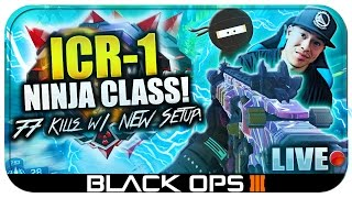 77 Kills Destruction!! NEW ICR-1 Suppressor/Stealth Class Setup in BLACK OPS 3! (BO3 LIVE Gameplay)