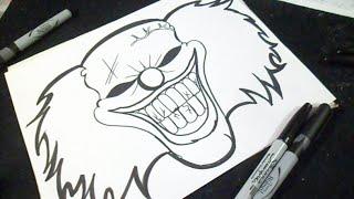 getlinkyoutube.com-como desenhar um palhaço Grafite