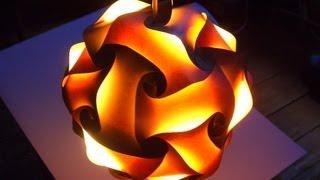 getlinkyoutube.com-Как сделать Светильник из Бумаги Своими Руками / Простая и красивая поделка люстра / Sekretmastera