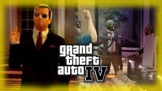 getlinkyoutube.com-Michael robs a bank in Liberty City | GTA IV MOD