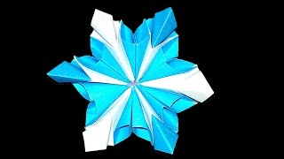 Easy Origami flower. Origami snowflake