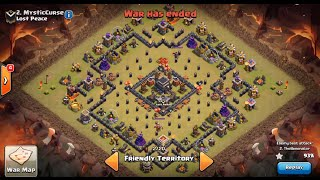 getlinkyoutube.com-Clash of Clans | TH9 ANTI 2-STAR WAR BASE (The Bullseye Base!!!)