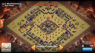 Clash of Clans | TH9 ANTI 2-STAR WAR BASE (The Bullseye Base!!!)