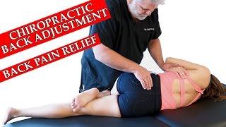 getlinkyoutube.com-Chiropractic Adjustment for Back Pain, Health Tip & Hip Adjustment Demonstration, Austin Chiro