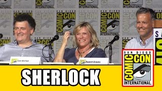 getlinkyoutube.com-Sherlock Comic Con 2015 Panel - Rupert Graves, Steven Moffat, Sue Vertue