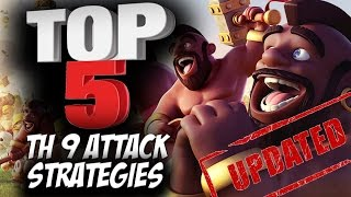 getlinkyoutube.com-Top 5 Best TH9 Attack Strategies (Updated) for Clan Wars | 3 Star Attacks | Clash of Clans